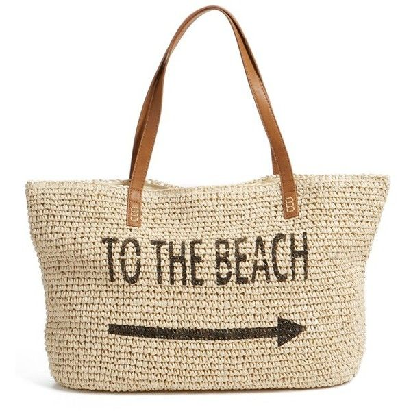 summer essentials straw tote
