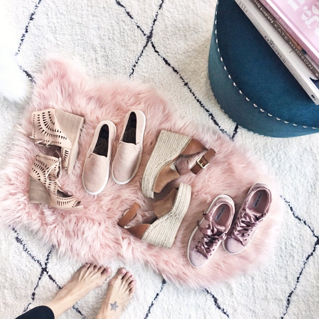 Spring style: blush shoes