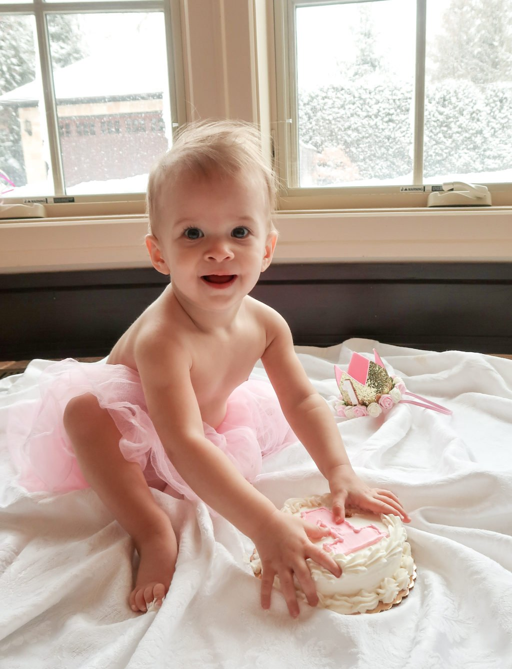 Baby girl, 1st birthday