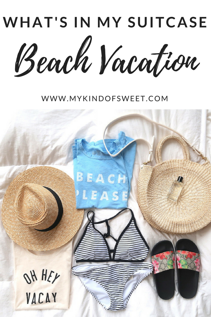 What's In My Suitcase: Beach Vacation