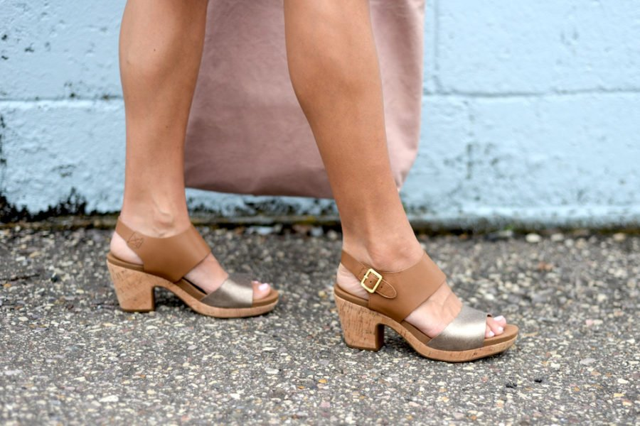 Sandals and tote