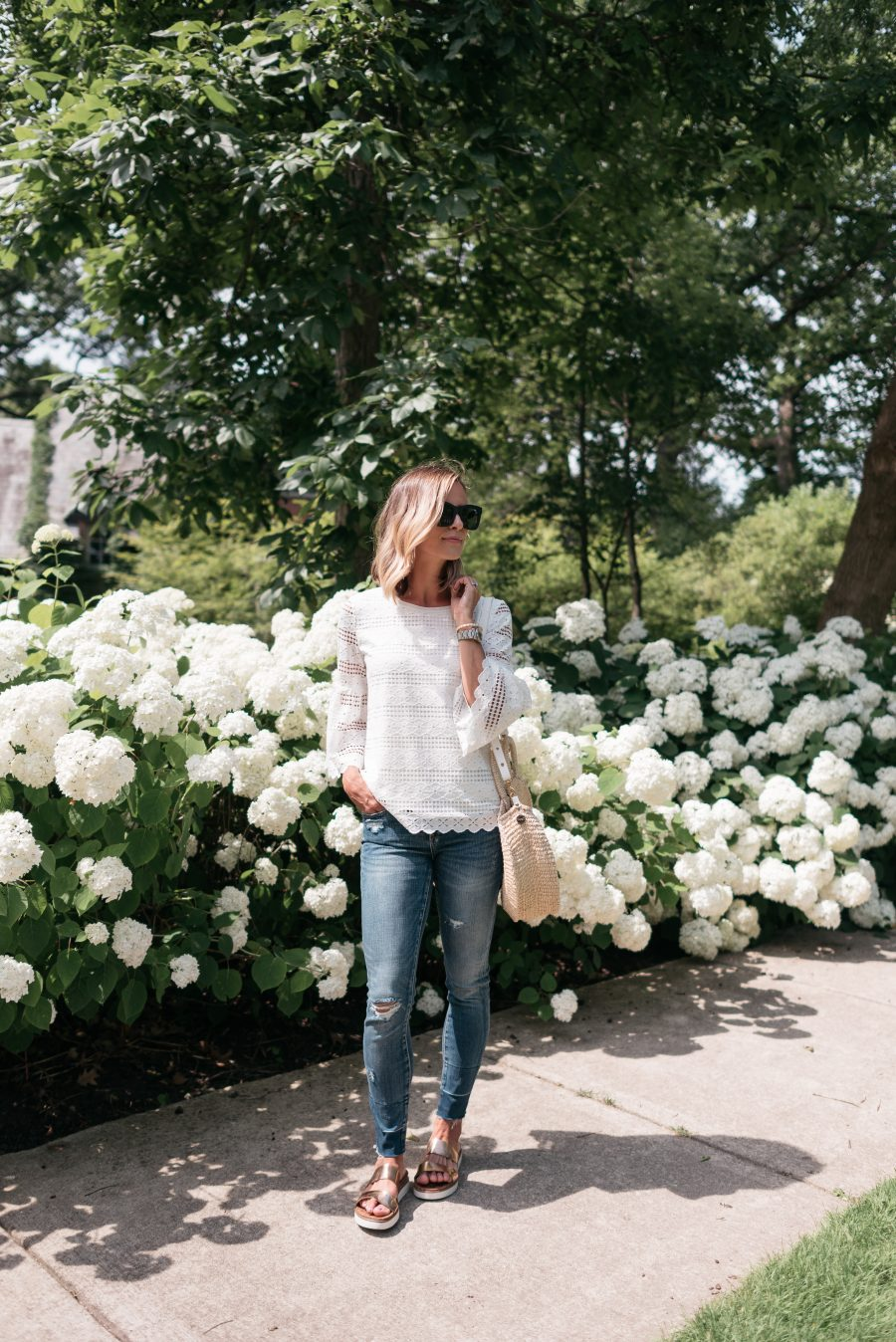 10 Easy Summer Outfit Ideas, denim and blouse