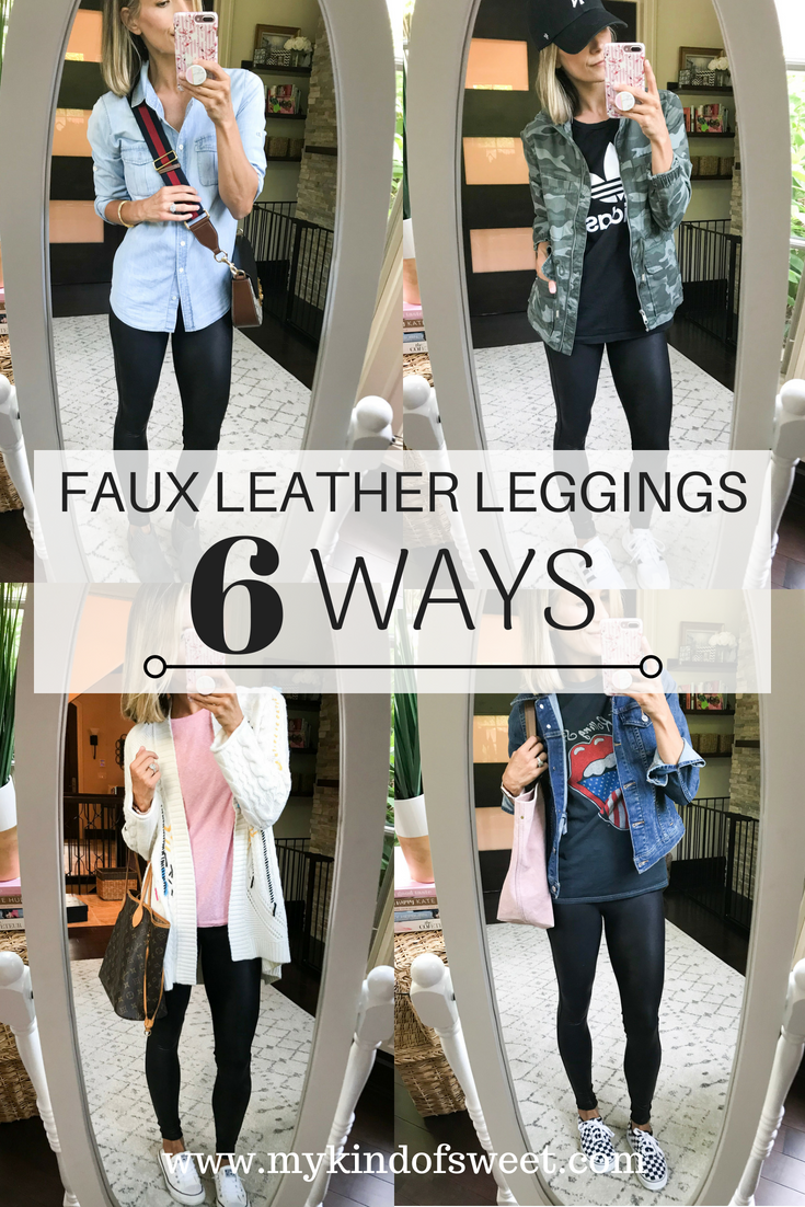 6dccebceb5a98 Outfit Remix: Faux Leather Leggings 6 Ways - my kind of sweet