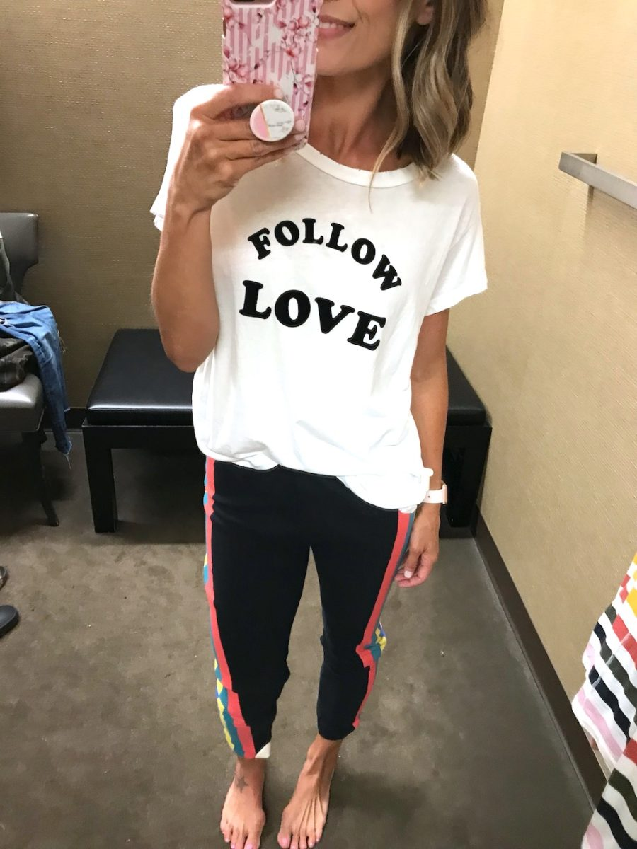 Try on, graphic tee and joggers