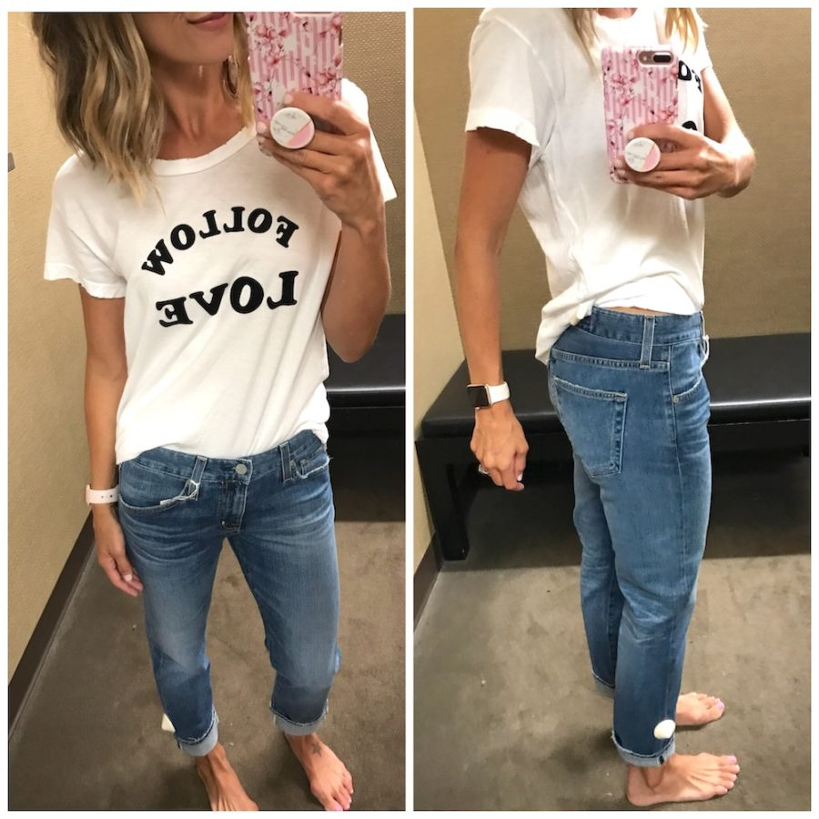 Graphic tee and boyfriend jeans
