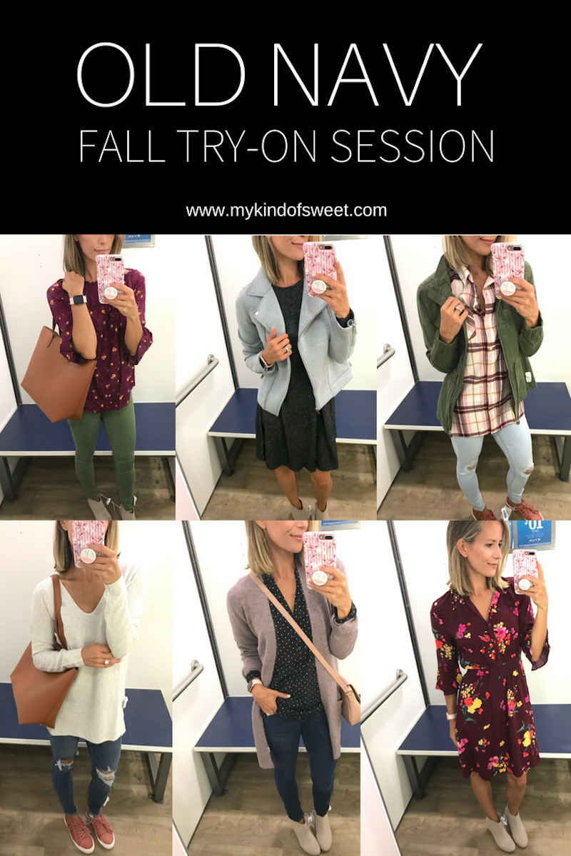 Old Navy fall try-on session