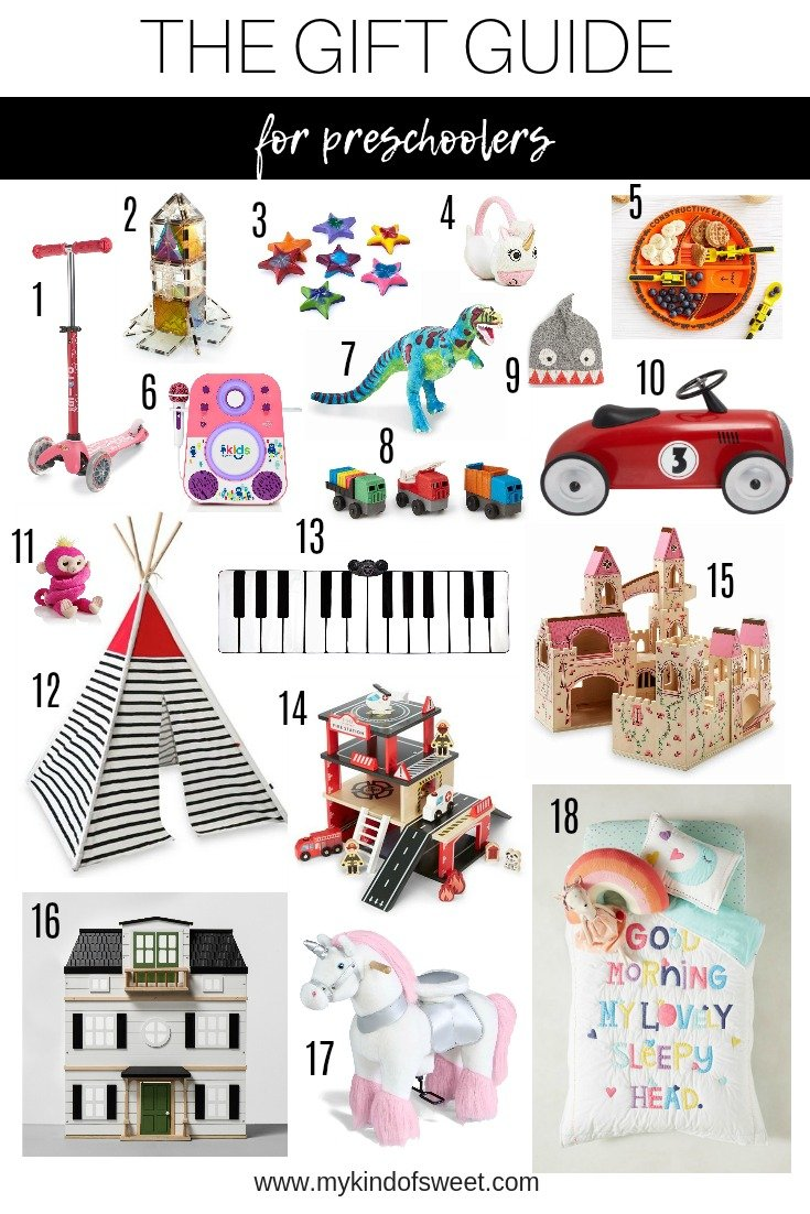 The Gift Guide for preschoolers