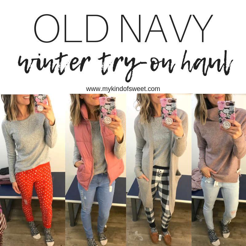 df920d16 Old Navy Winter Try-On Haul - my kind of sweet