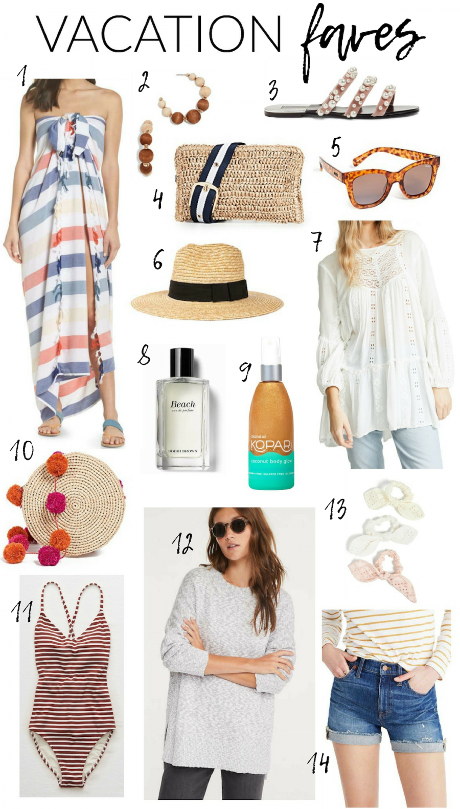 Current vacation faves