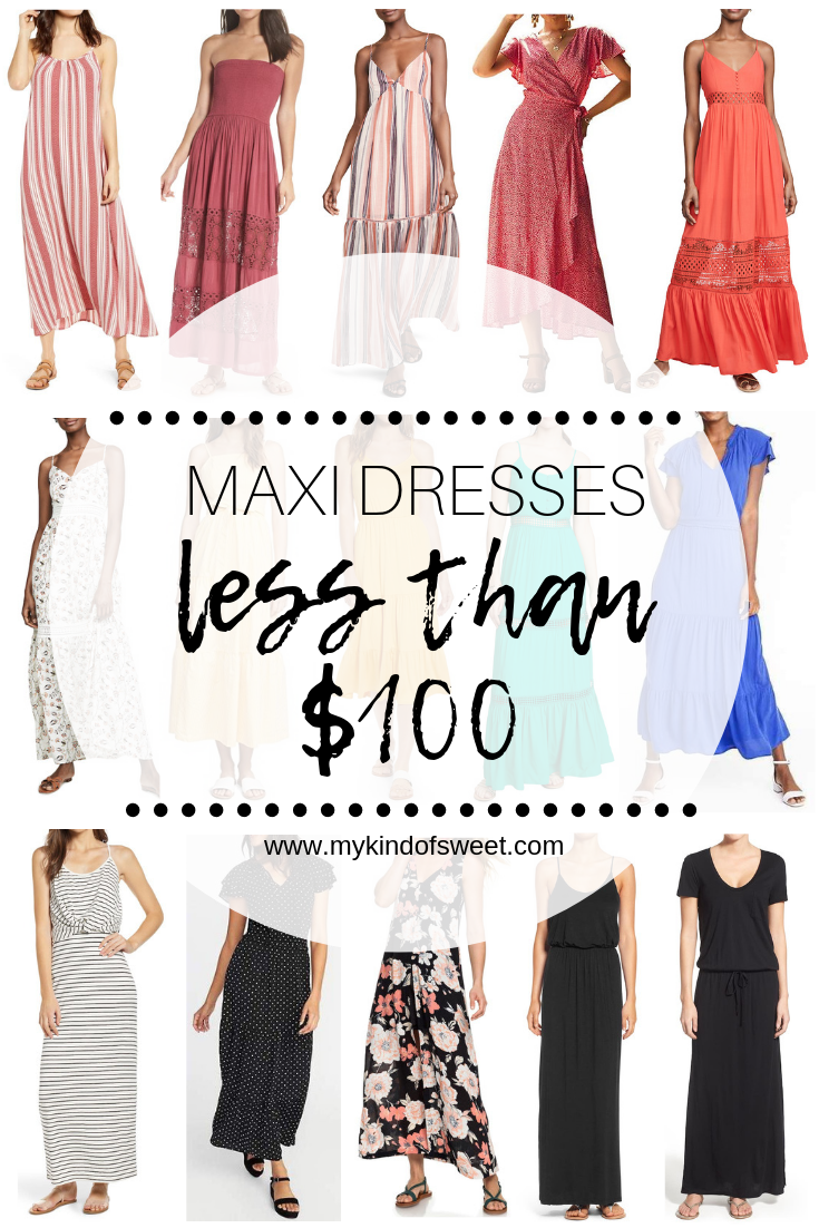 maxi dresses less than $100