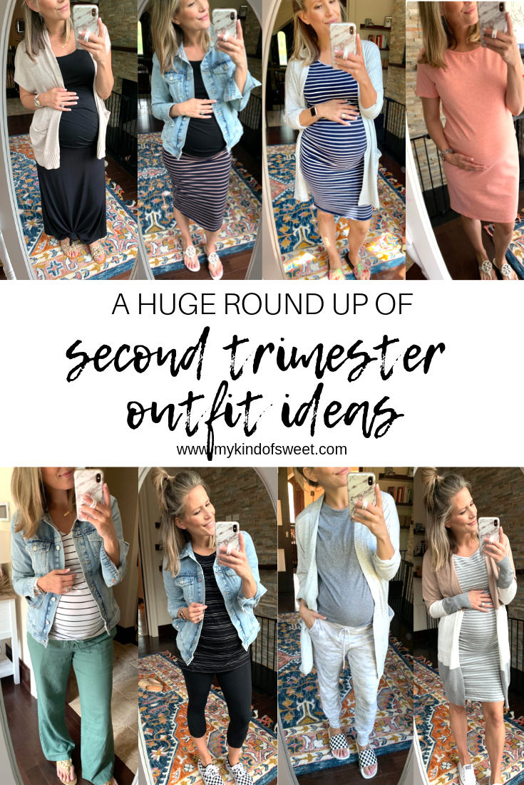 A Huge Round Up Of Second Trimester Outfit Ideas
