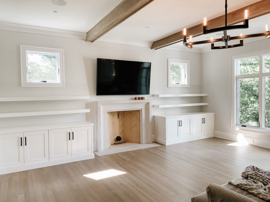 My Kind of Sweet Home: family room built ins