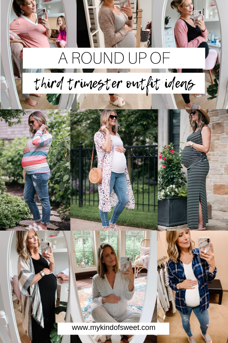 Round Up Of Third Trimester Outfit Ideas