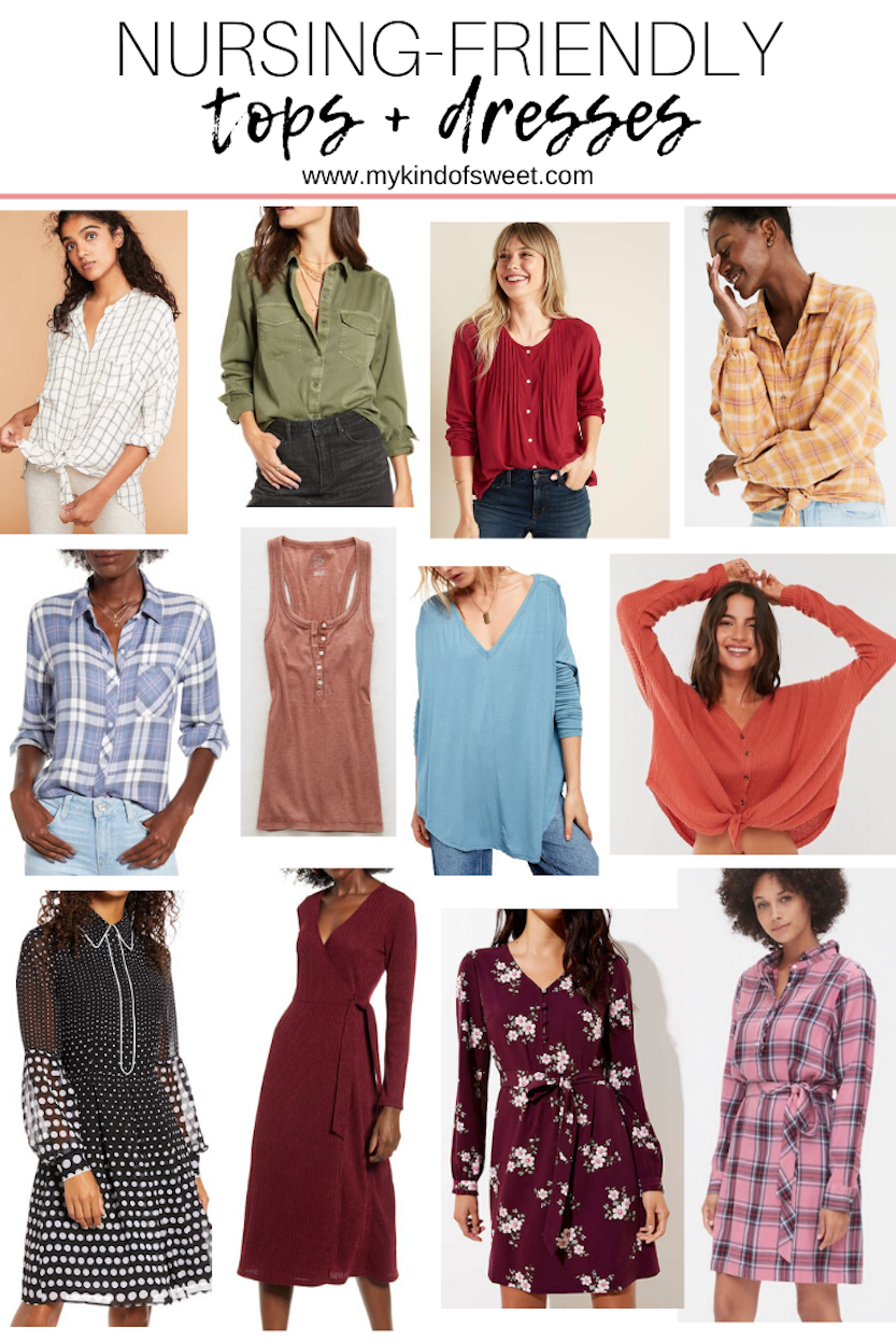 Nursing-Friendly Tops + Dresses | October 2019