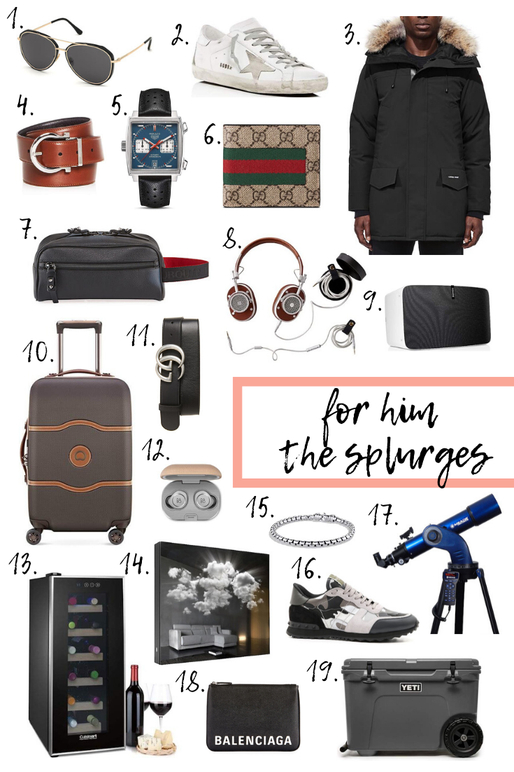 Holiday gift guide for him, splurge products