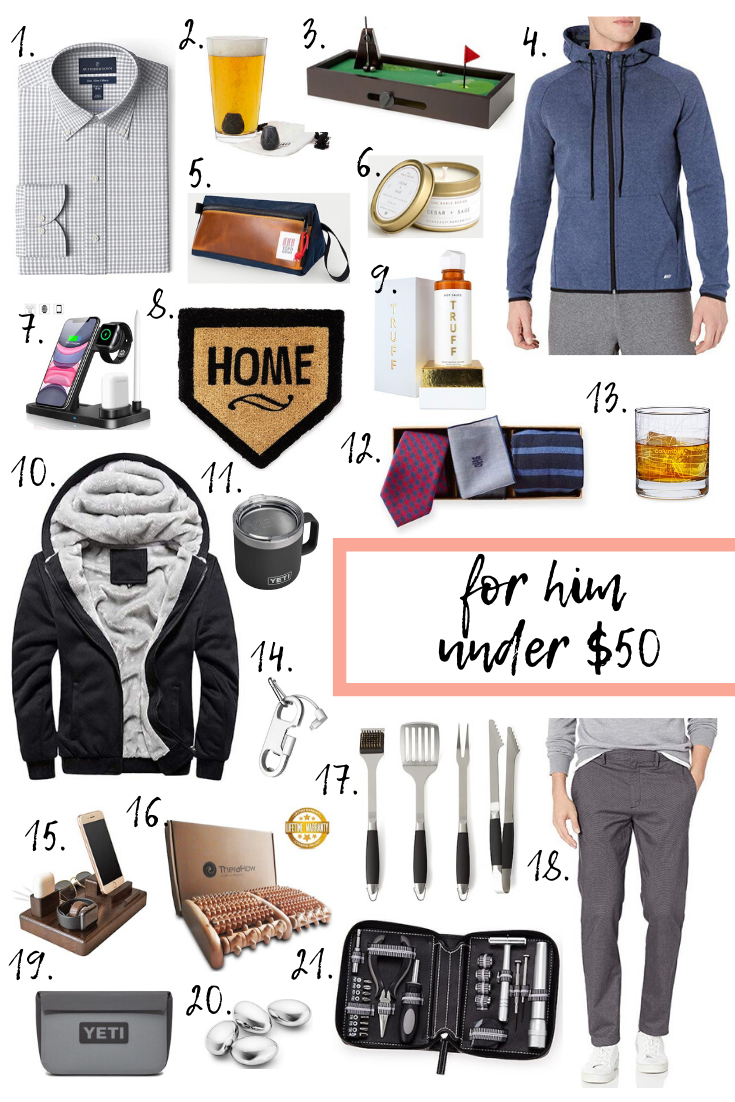Holiday gift guide for him under $50