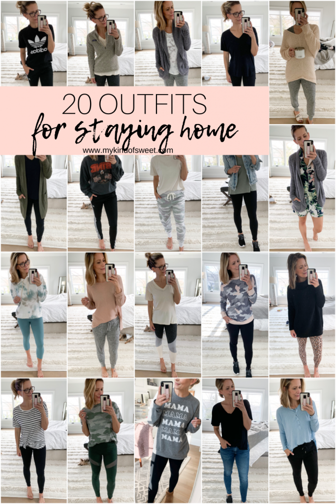 "This post is all about comfortable outfits. It's about getting dressed to help us feel ""normal,"" but not forgetting we're staying home."