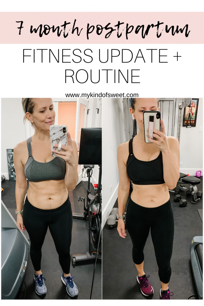I'm sharing my postpartum fitness routine of at home workouts including Peloton, yoga, HIIT cardio, and running.