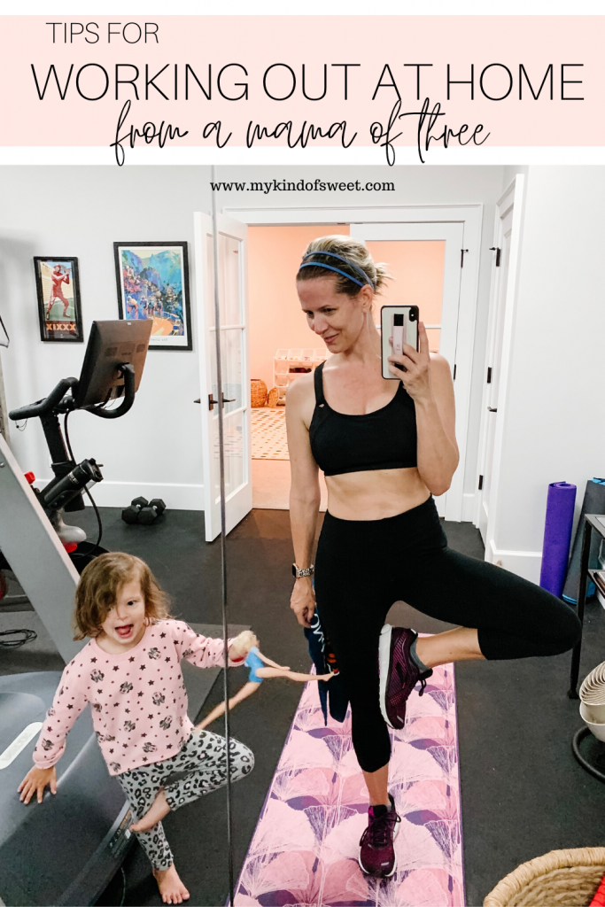 Home workout tips and tricks for with kids which includes consistency, utilizing nap times and early mornings, and including them.