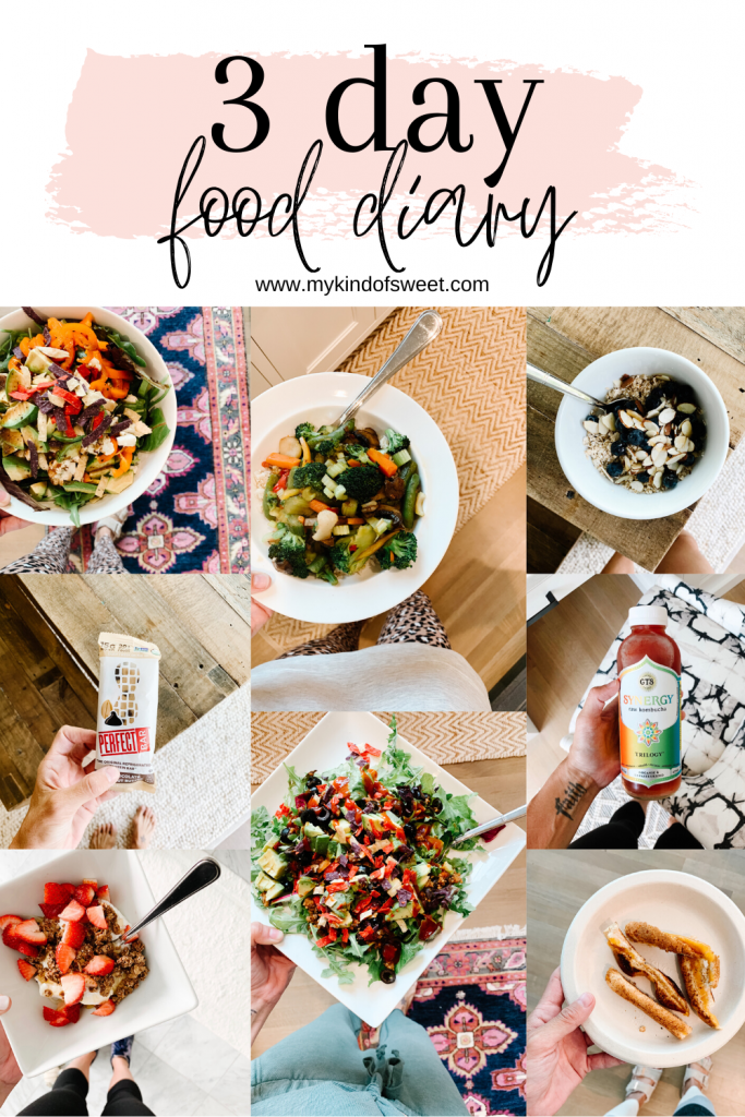 3 day food diary, what I eat in a day