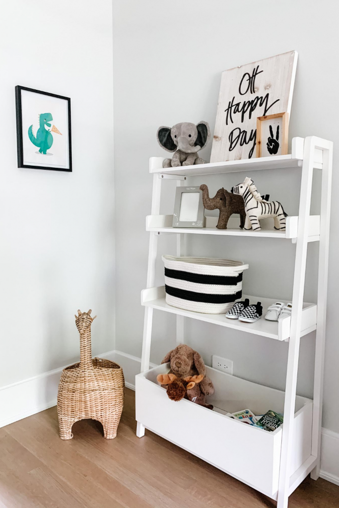 Today I'm sharing an update on Baby Gray's nursery. I've chosen vey neutral colors with pops of print and animal accents.