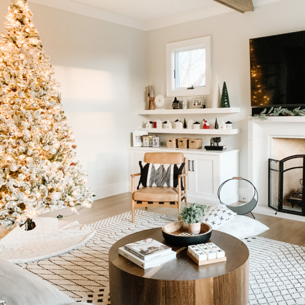 My Kind Of Sweet Home | Our Flocked Christmas Tree