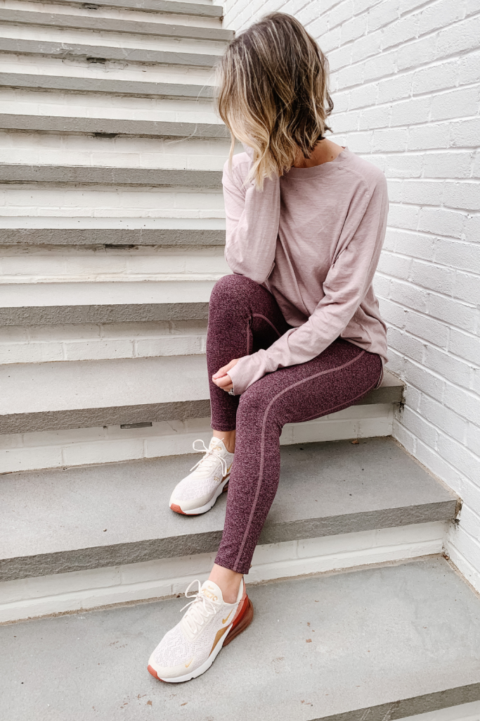 Athleisure: RELAXED LONG SLEEVE TEE + LIVE IN POCKET LEGGINGS