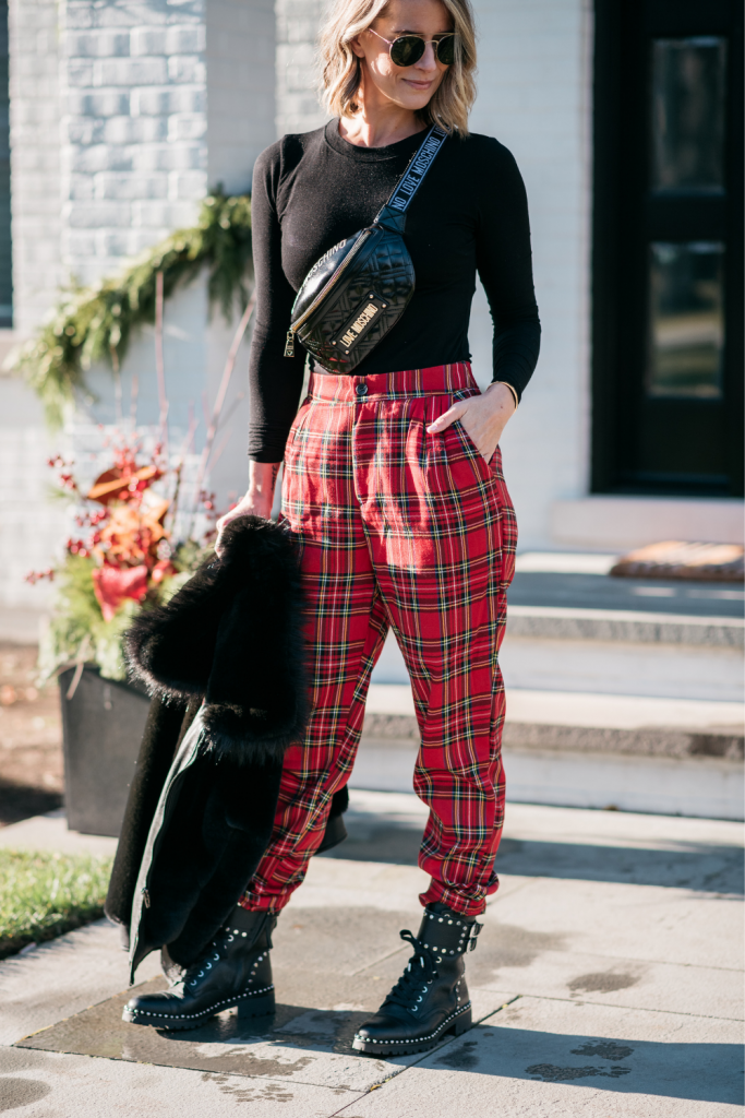 Nothing screams edgy and cool like a good pair of plaid pants and some faux fur. Today I'm styling a few timeless classics.