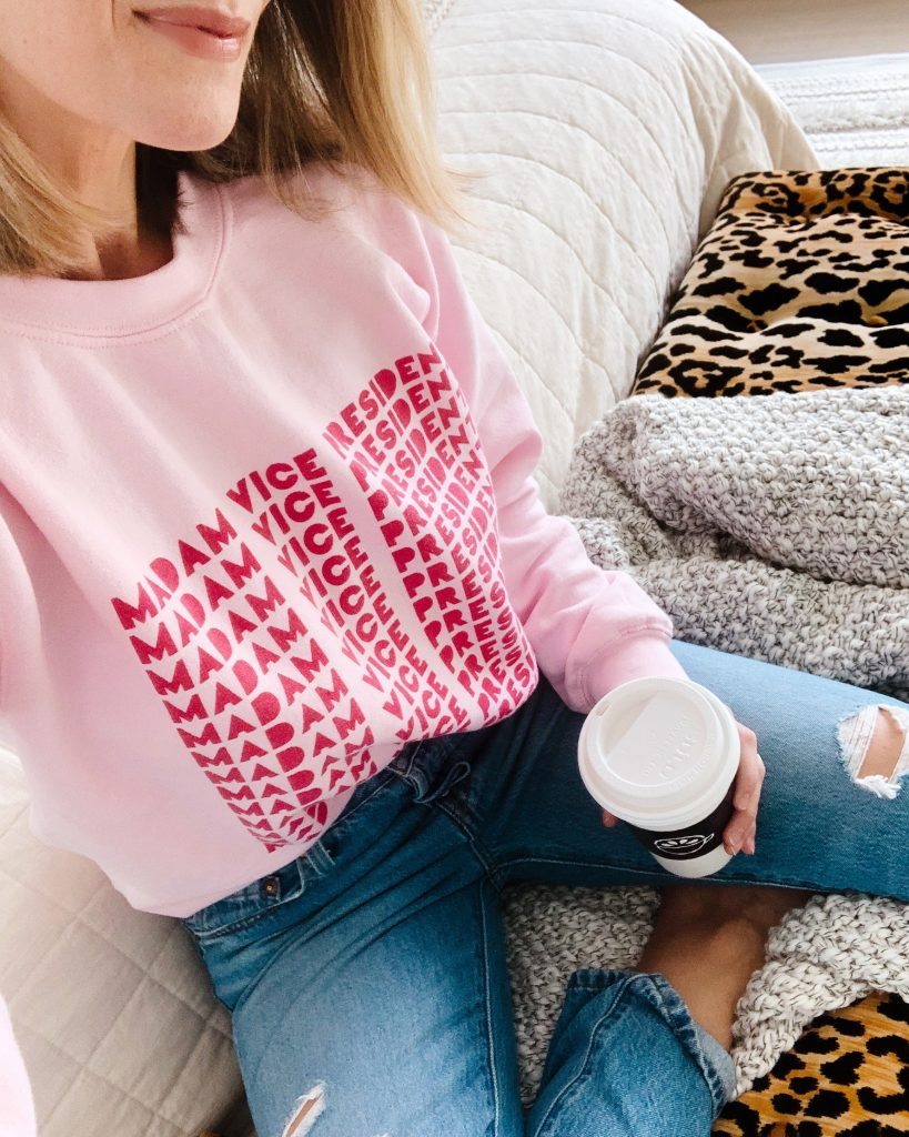 Today I'm sharing my January favorites in home and fashion. From area rugs to sweatshirts, I'm covering all things for being cozy at home.