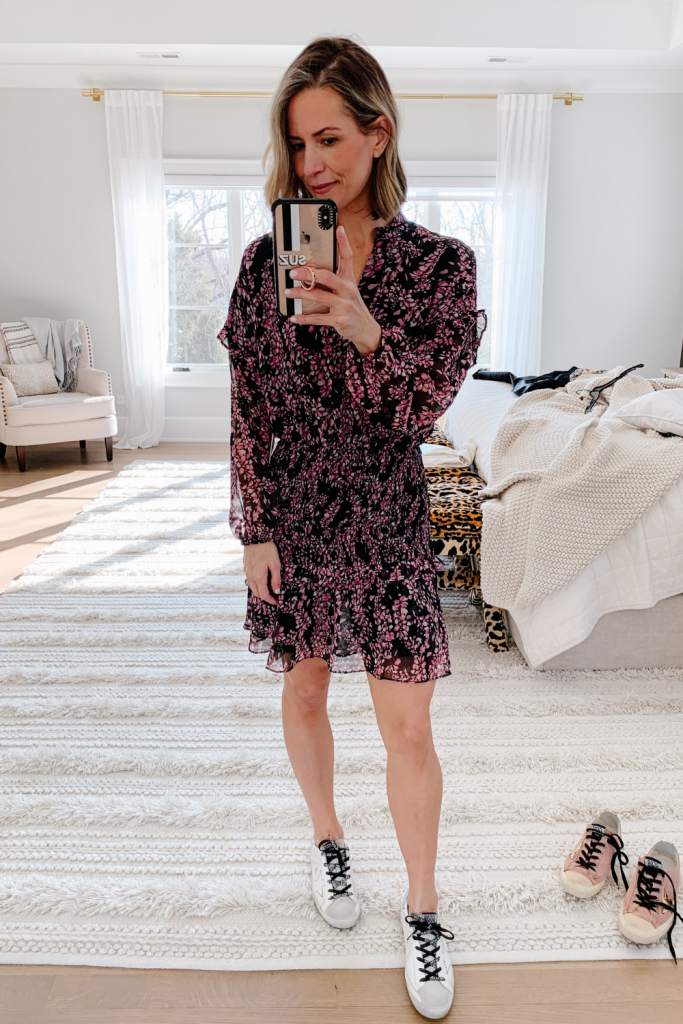 Taking a break from The Friday Five to bring you 4 spring dresses styled with Golden Goose sneakers for a local magazine photoshoot.