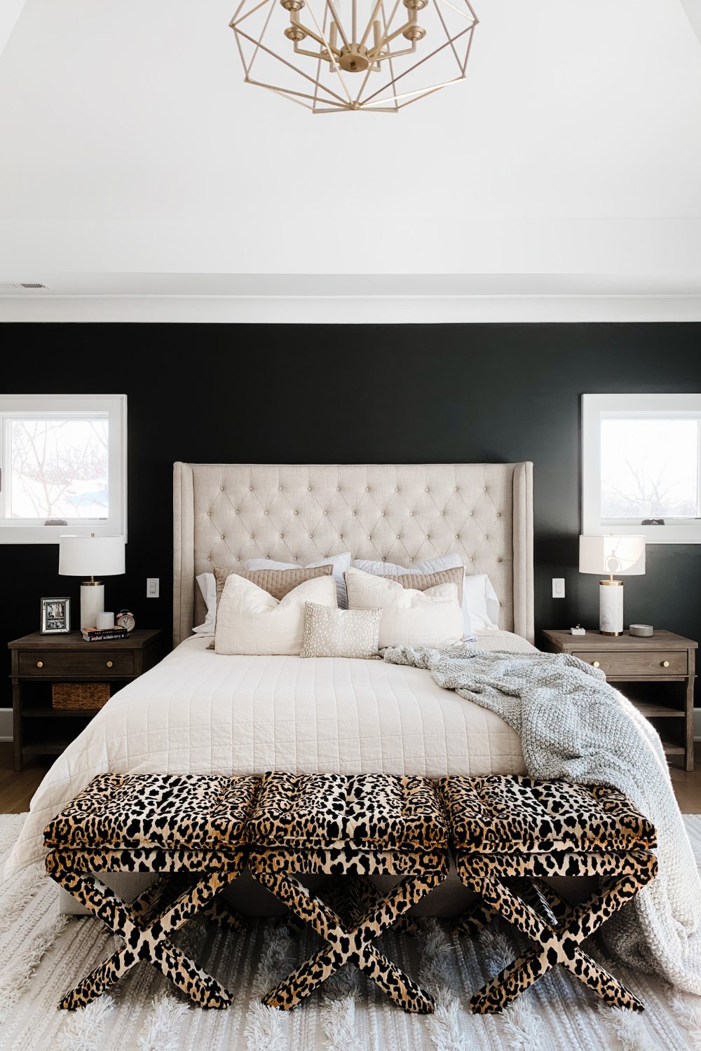 Master Bedroom Update Black Accent Wall My Kind Of Sweet
