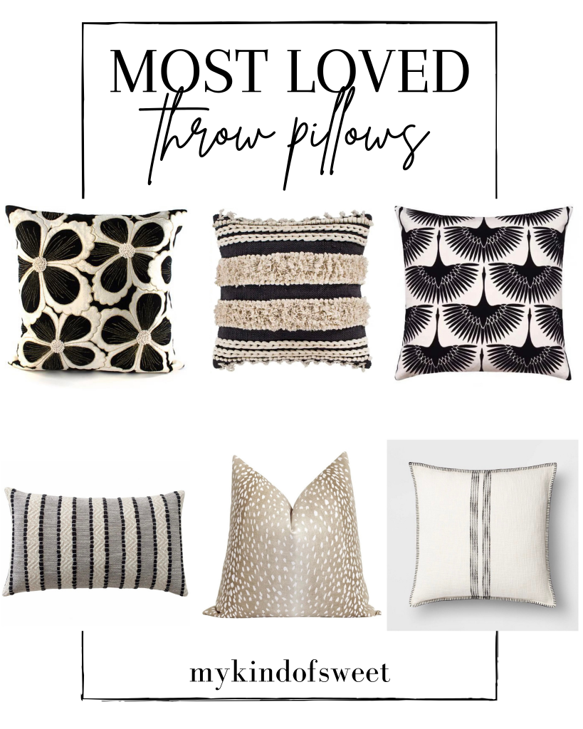 A few new home finds, most loved throw pillows