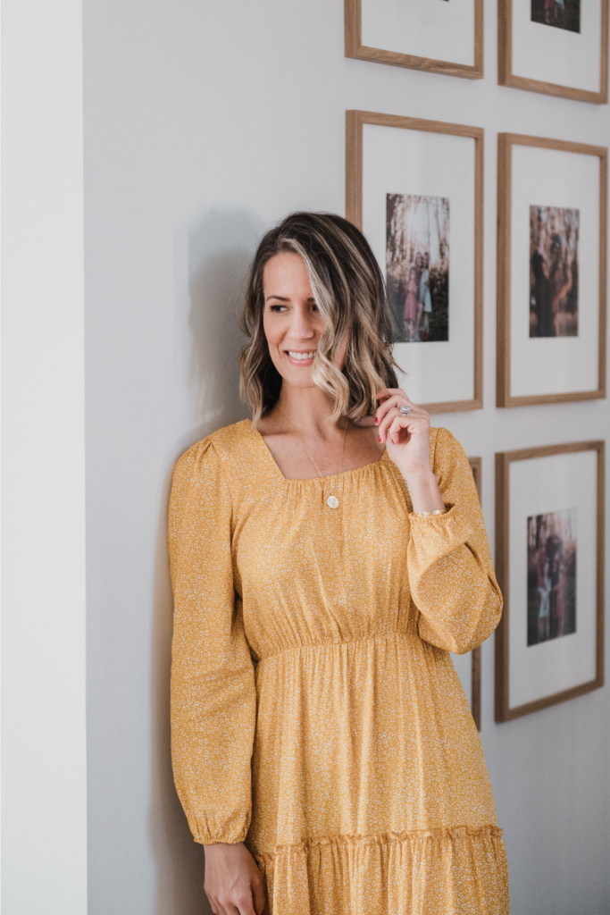 Amazon maxi dress and gallery wall