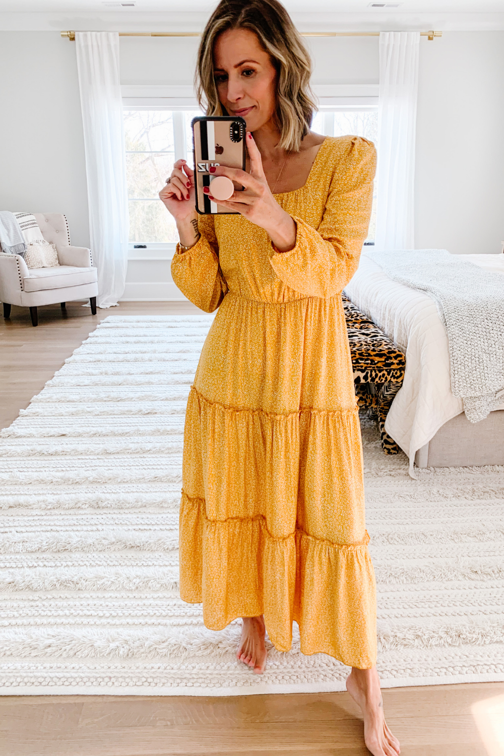 Summer to fall style: maxi dress