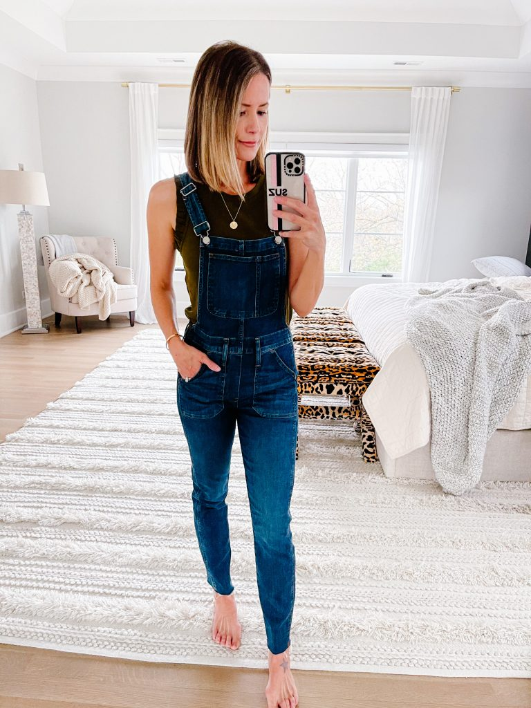Real #ootd round up, ruffle tank, overalls