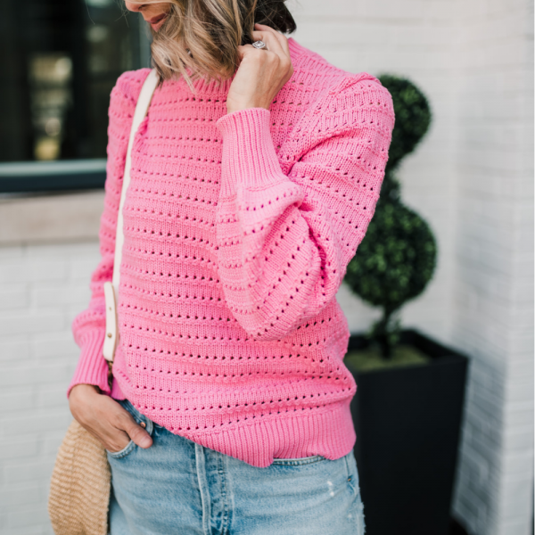 Pointelle Sweater + Celebrating Life