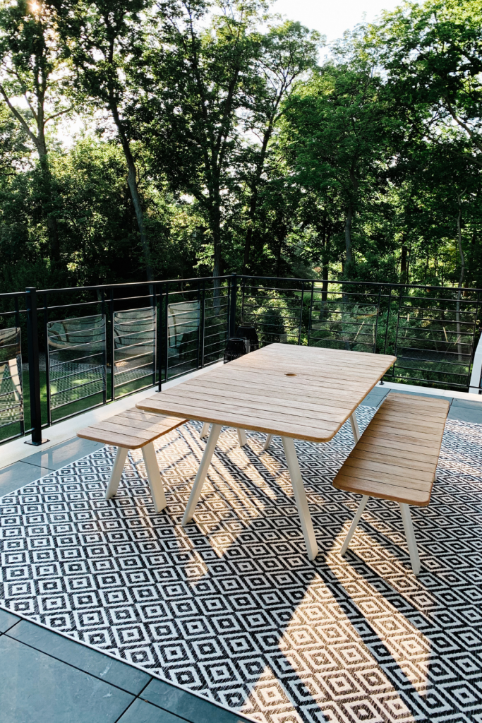 Outdoor patio finds, picnic table and bench