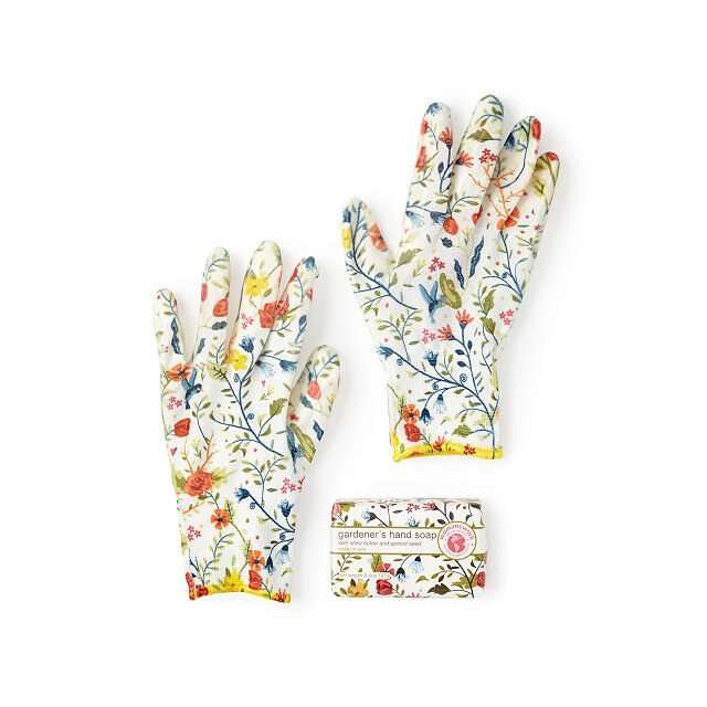 Mother's Day Gift Guide, gardening gloves and soap