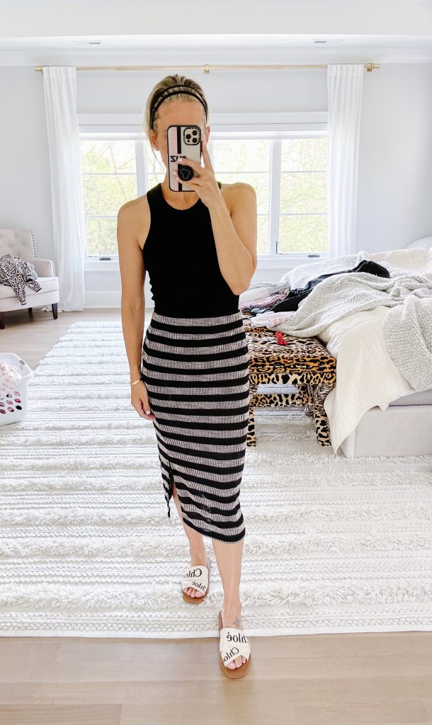 Memorial Day Sales Round Up, striped skirt