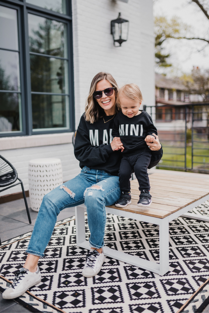 Mama + mini outfit, 3rd baby thoughts
