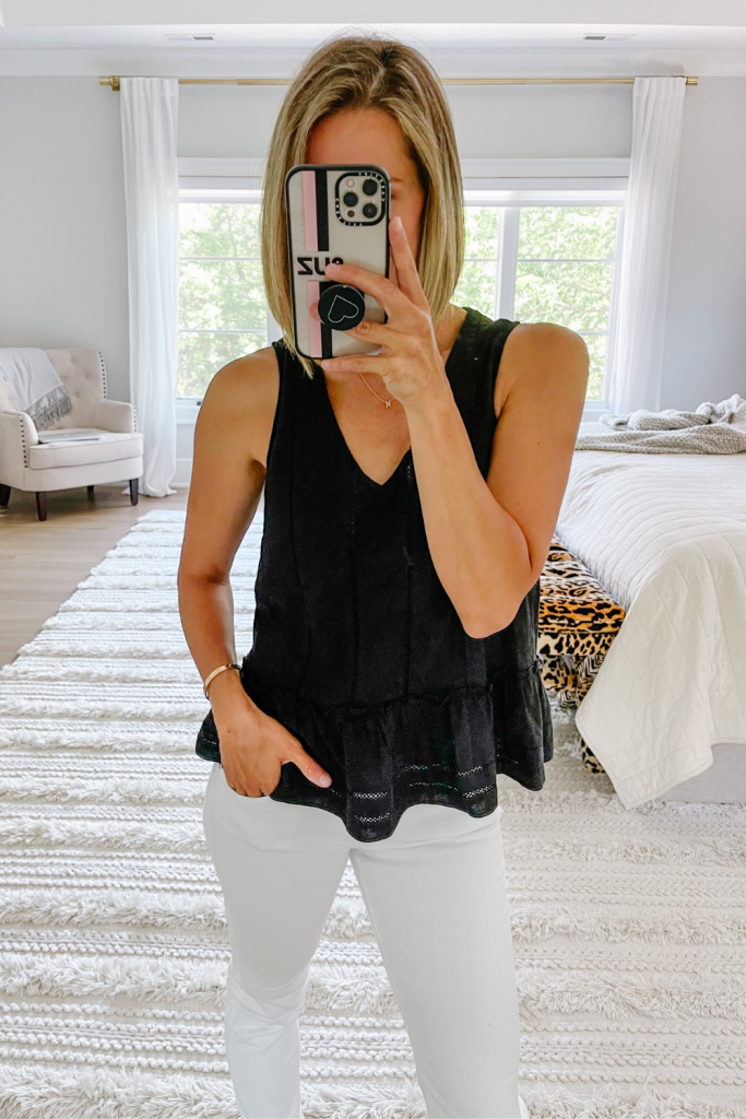 What's new in my closet, tank and white denim