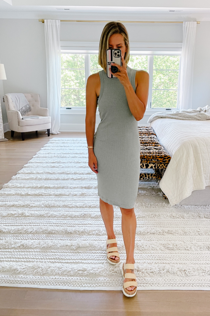 What's new in my closet, ribbed tank dress