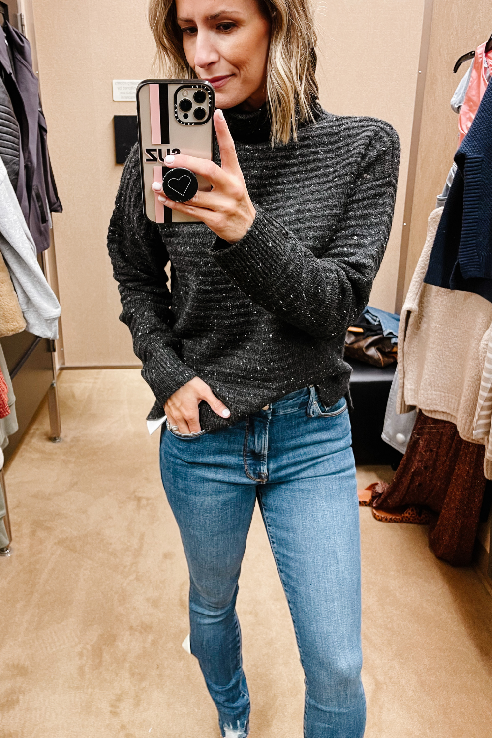 NORDSTROM ANNIVERSARY SALE: Madewell sweater and skinny jeans