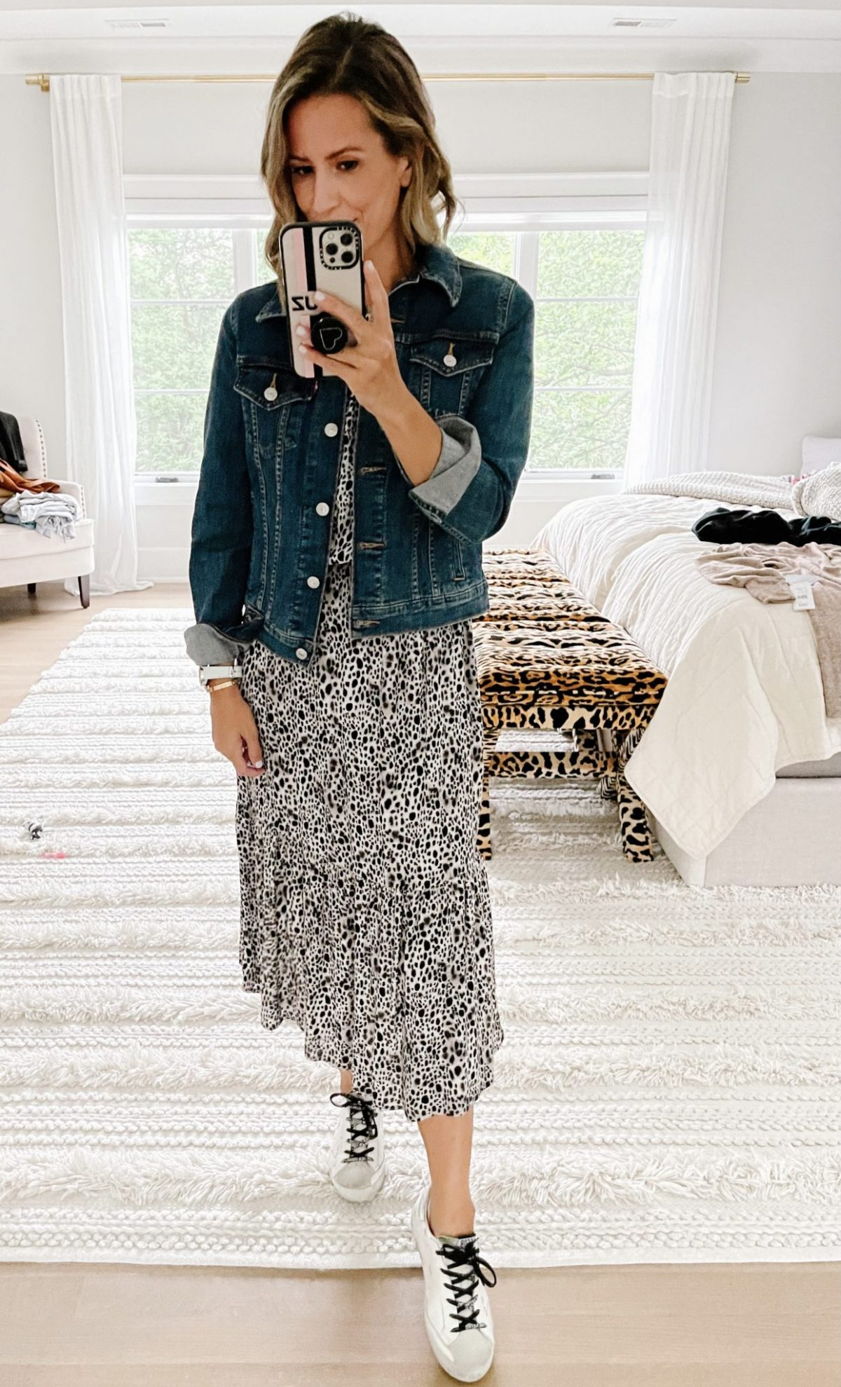 Late summer #ootd round up, maxi dress, denim jacket and sneakers