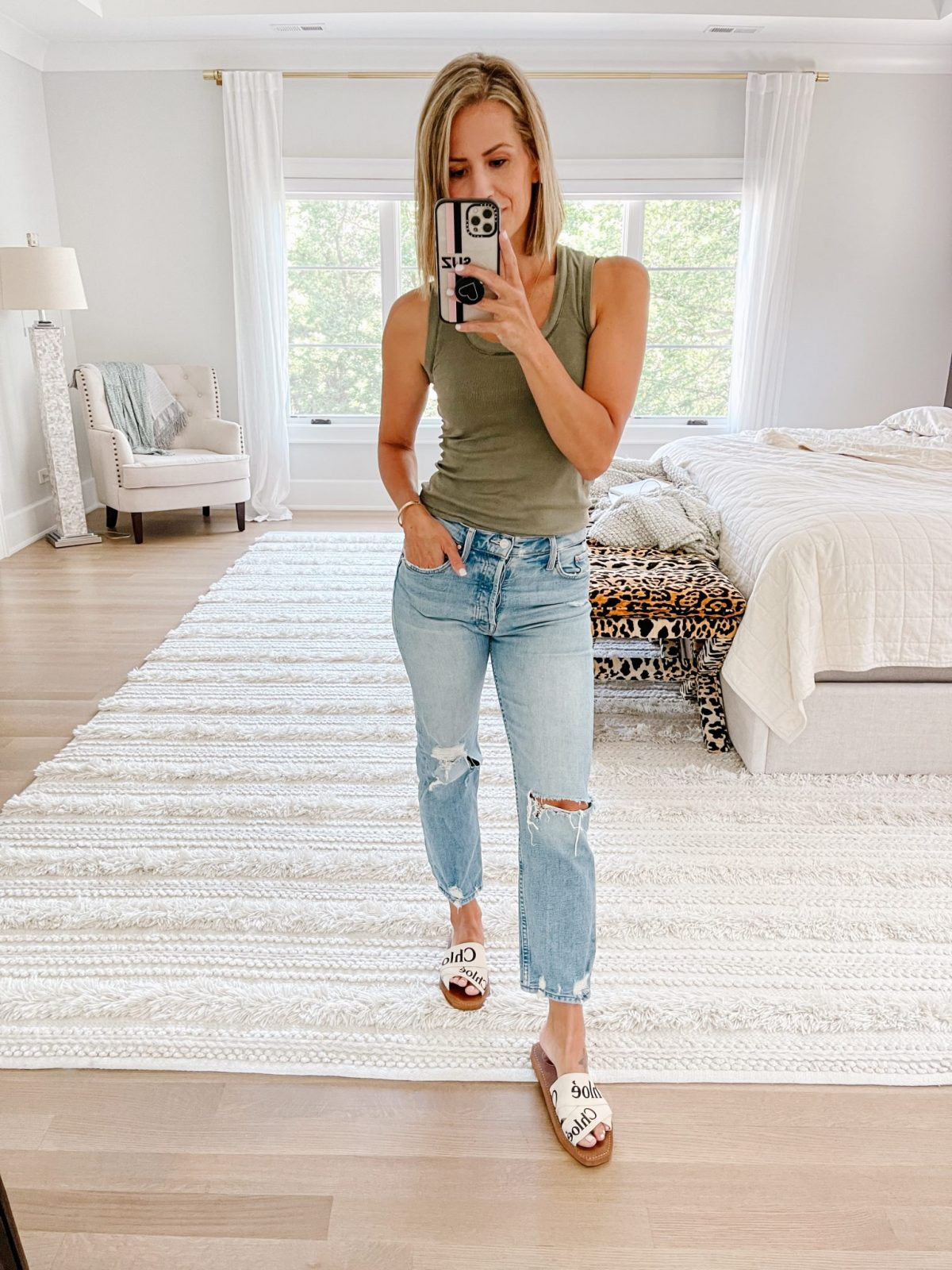 August #ootd round up: Free People tank and denim