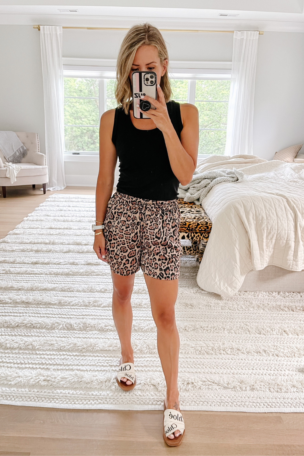 August #ootd round up: leopard shorts