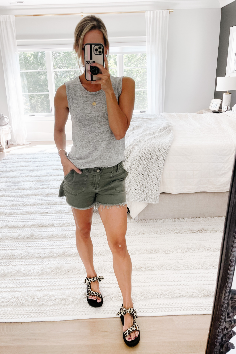 Sunday Sweet Edit: cozy tank, favorite shorts and best selling sandals