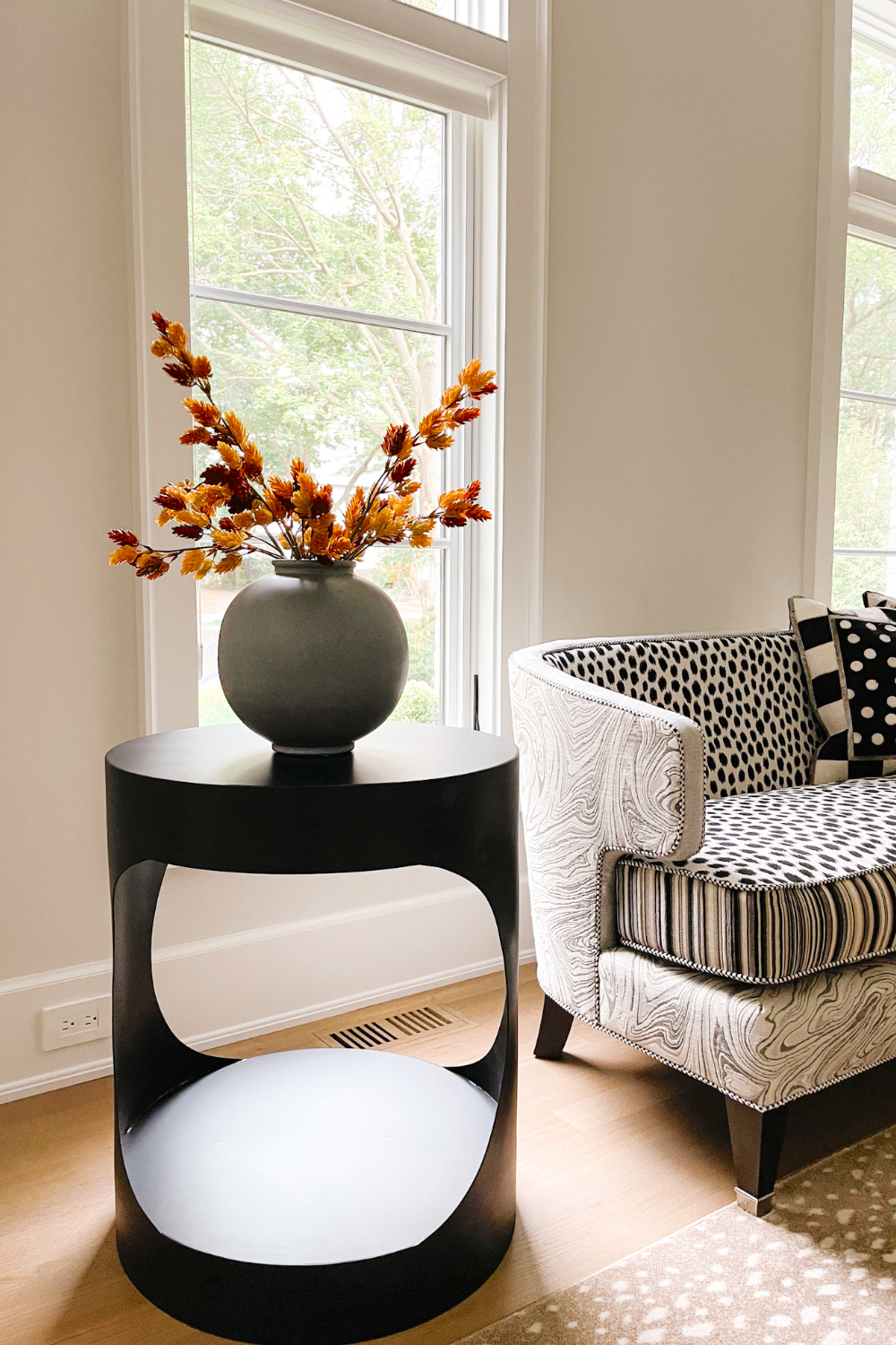 How to transition to fall home decor: faux stems