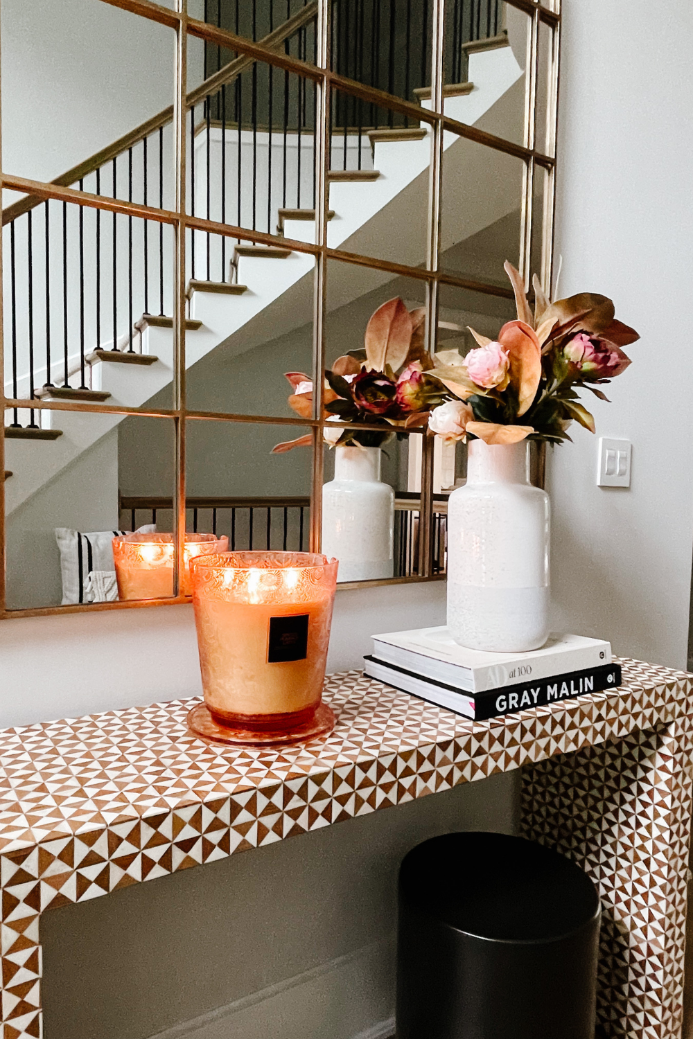 How to transition to fall home decor: fall candles