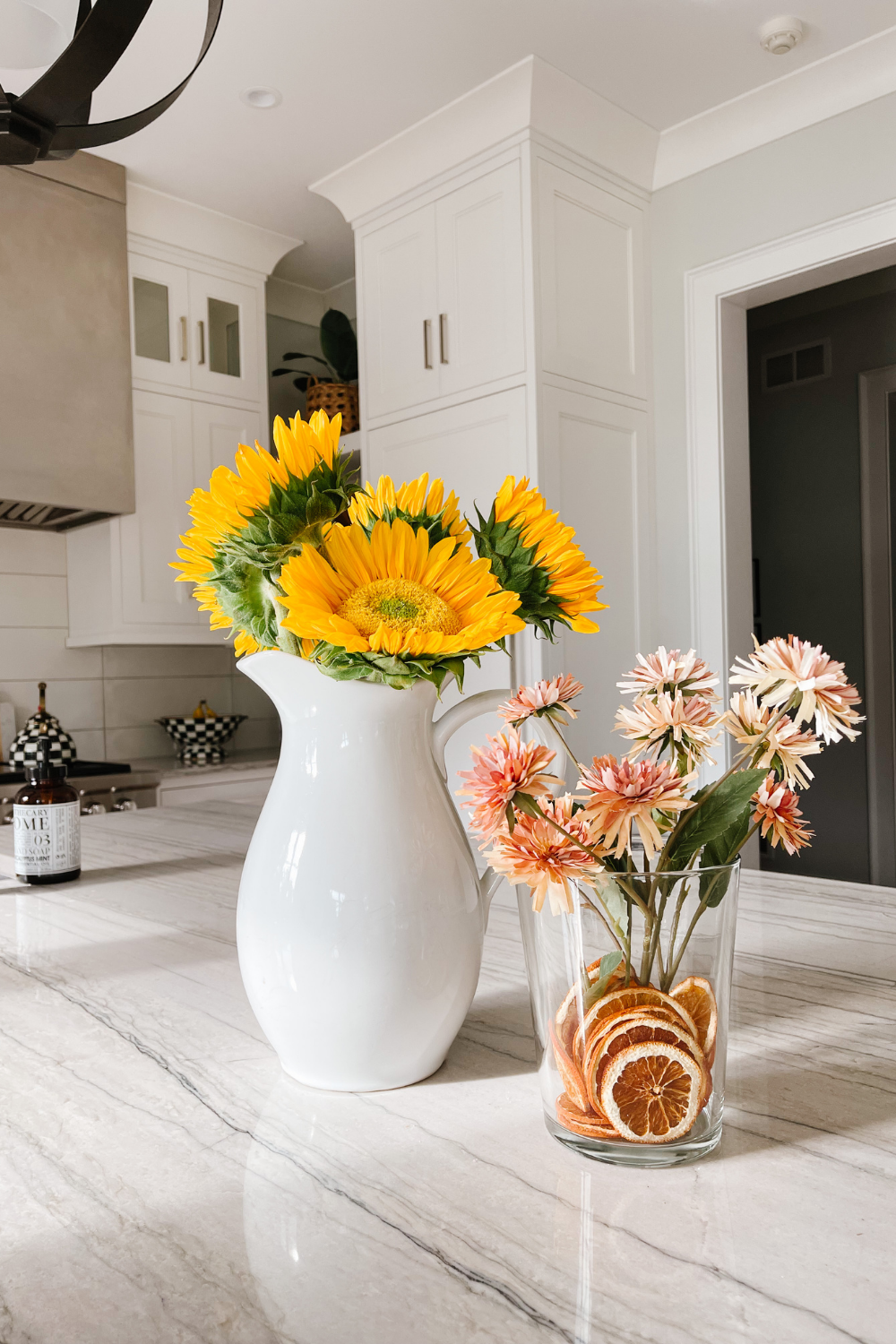 How to transition to fall home decor: sunflowers